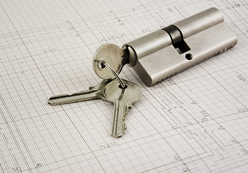 Euro cylinder lock and building plans