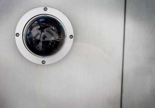 Ceiling-mounted eyeball CCTV security camera